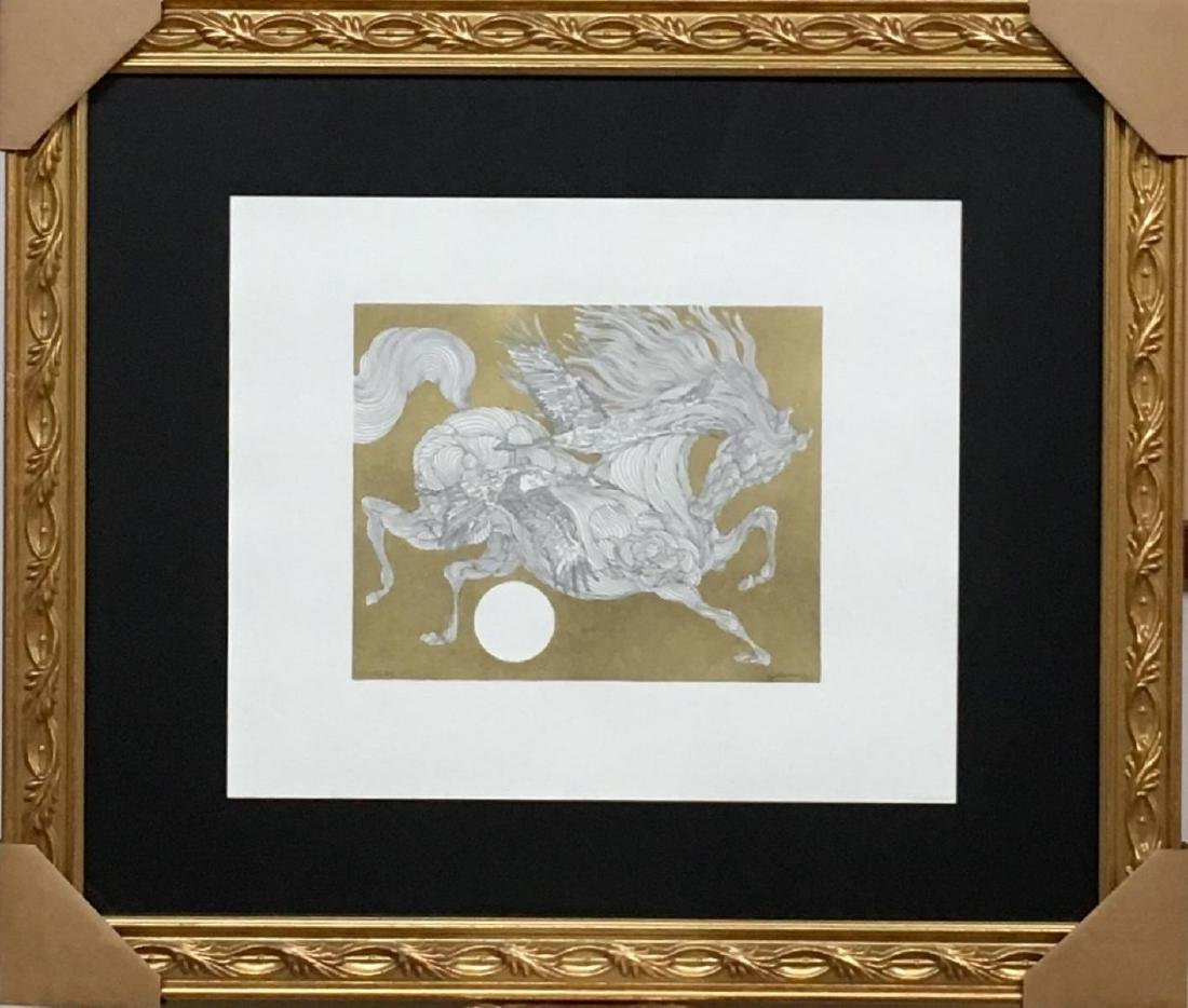 GUILLAUME AZOULAY ORIGINAL PEN & INK DRAWING WITH HAND