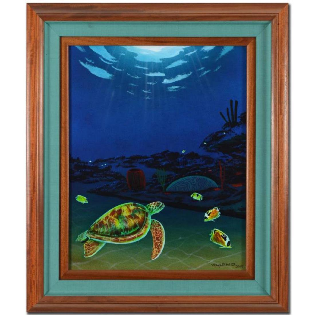 "Wyland, ""Reef of Life (With Reef)"" Framed Original Oil"
