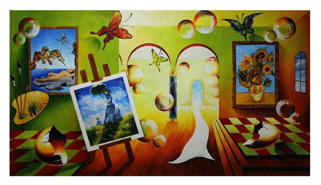 "Alexander Astahov- Original Oil on Canvas ""Virtual"