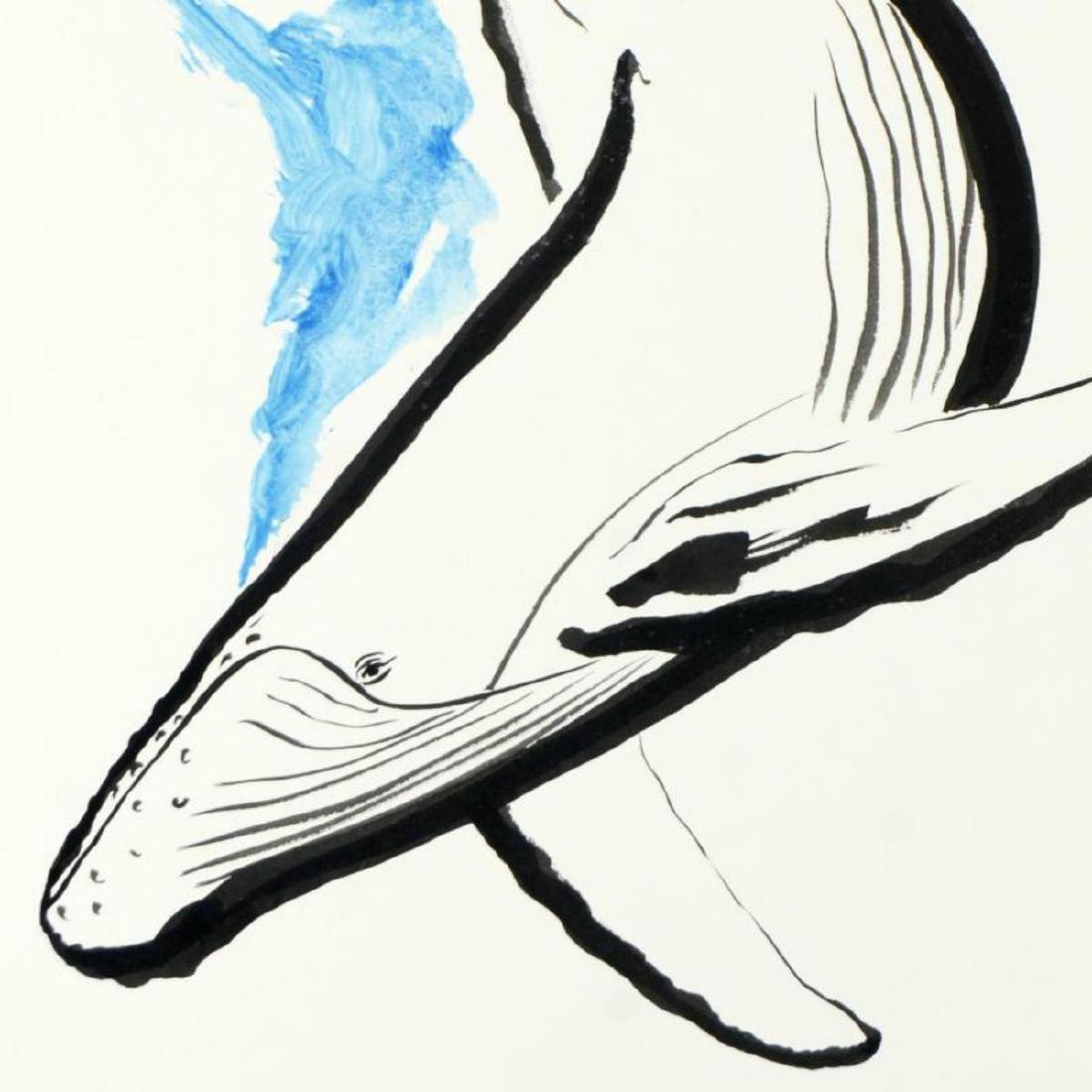 "Wyland, ""Humpback"" Original Sumi Ink Painting, Hand - 2"