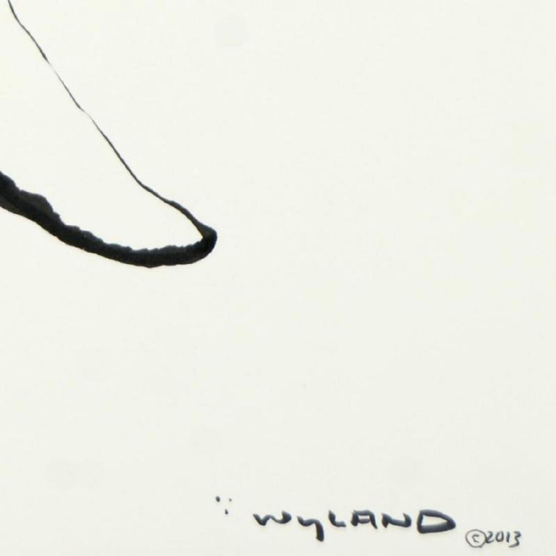 "Wyland, ""Humpback"" Original Sumi Ink Painting, Hand - 3"