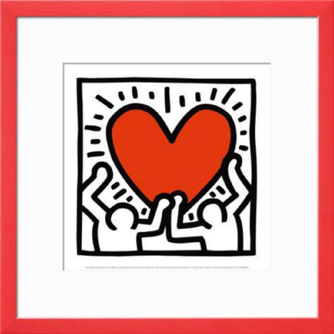 """Keith Haring """"Untitled"""" Custom Framed Offset Lithograph"""