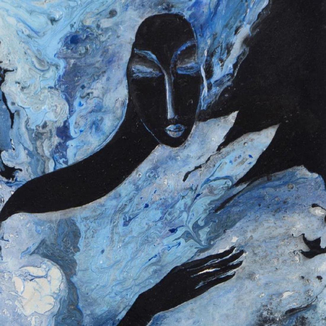 Nadia Volna, Original Acrylic Painting on Gallery - 2