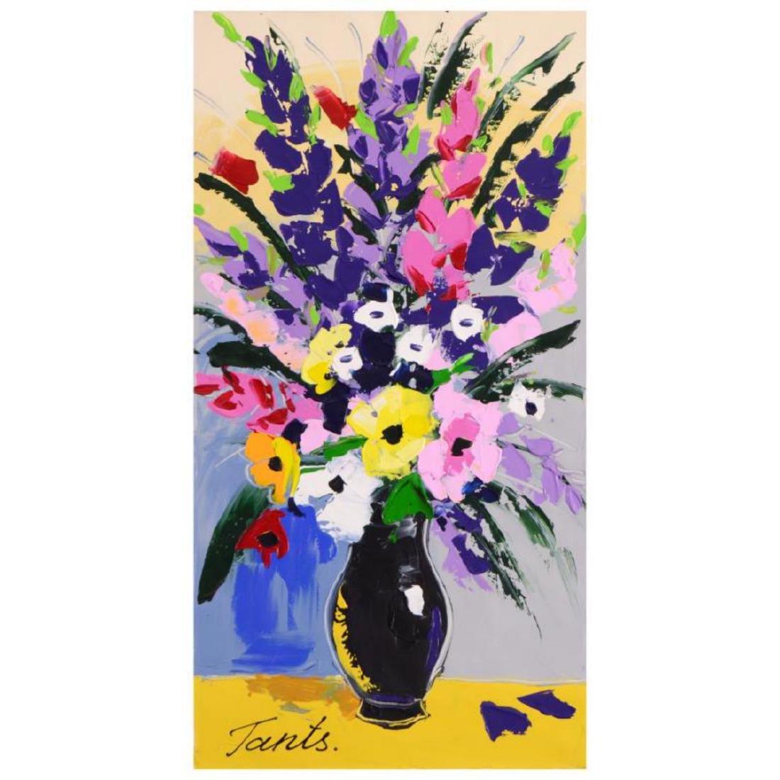 Lena Tants - Original Acrylic Painting on Canvas, Hand