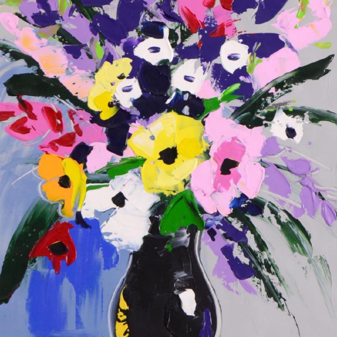 Lena Tants - Original Acrylic Painting on Canvas, Hand - 2