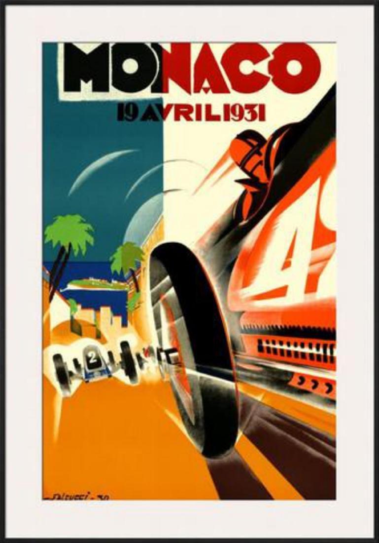 """Monaco Grand Prix, 1931"" Custom FramedOffset"