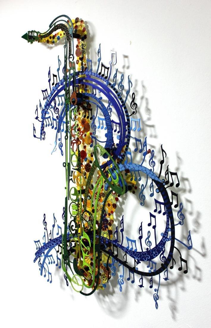 Patricia Govezensky- Original Painting on Cutout Steel - 3
