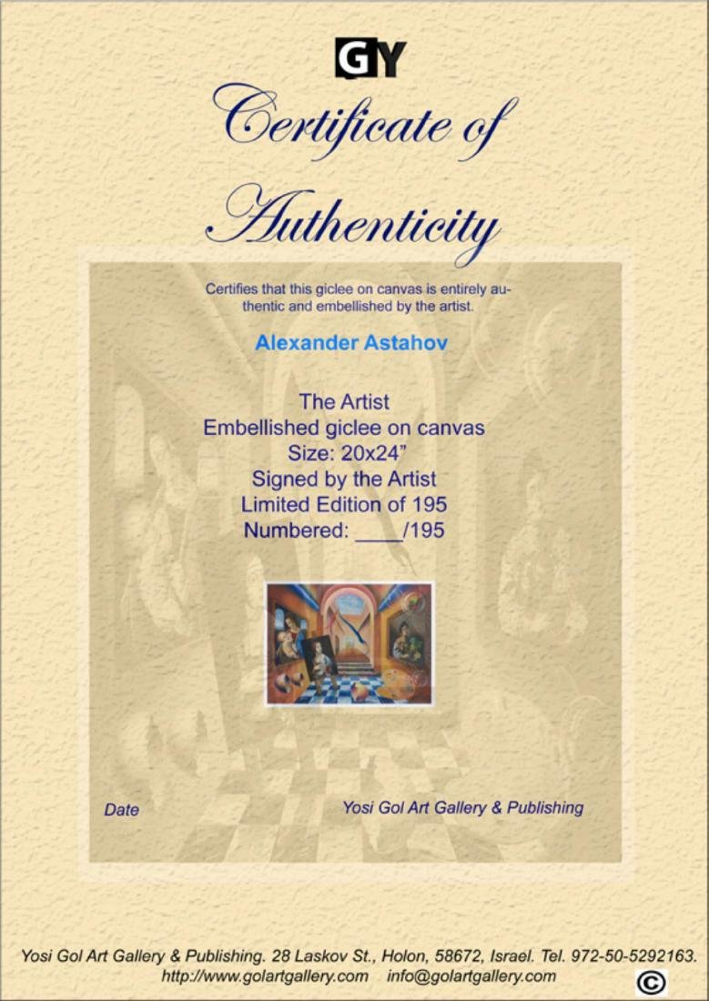 "Alexander Astahov- Original Giclee on Canvas ""The - 3"