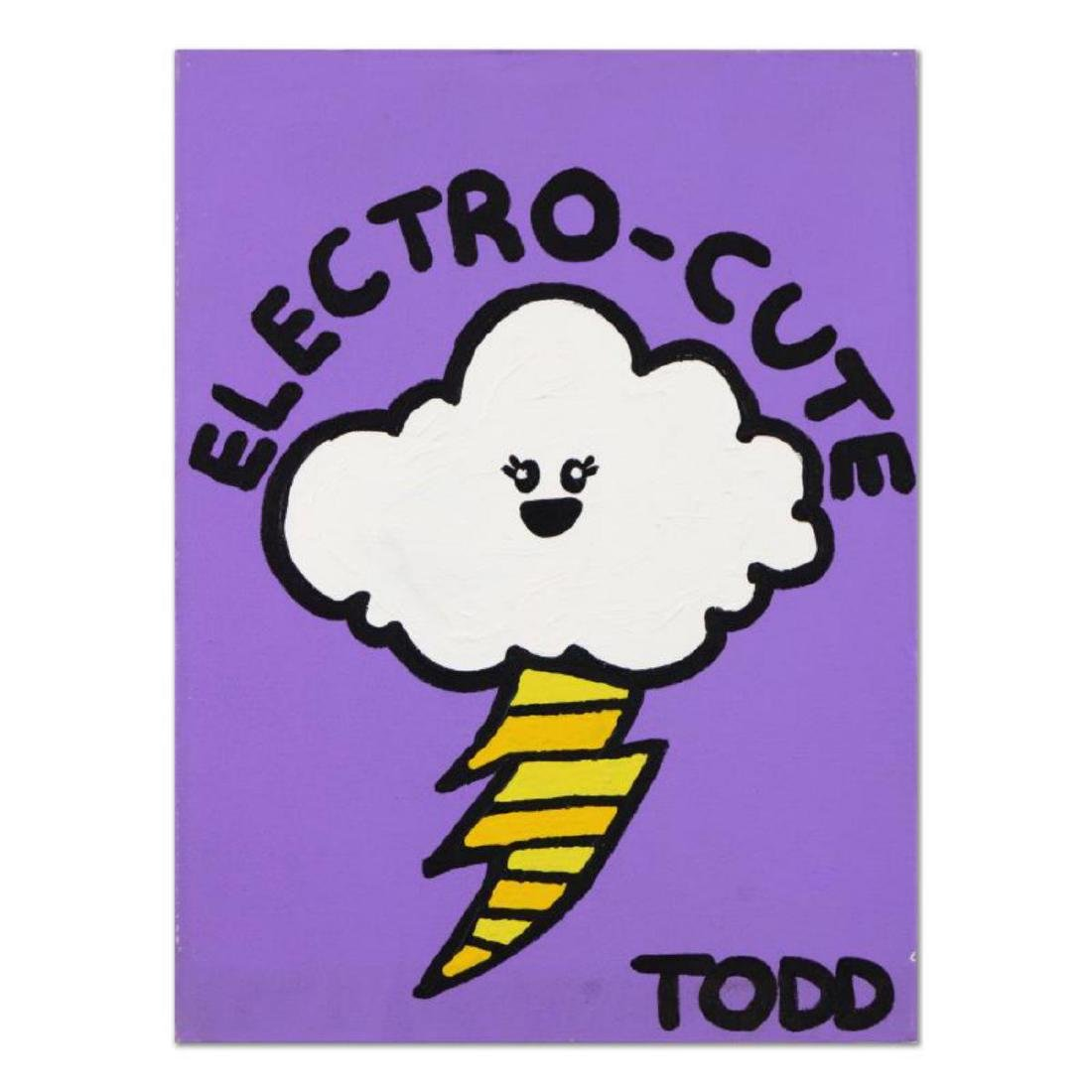"Todd Goldman, ""Electro-Cute"" Original Acrylic Painting"