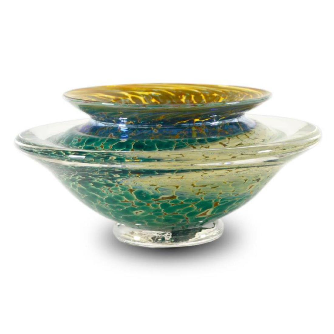 """Medium Ikebana Flower Bowl"" Hand Blown Glass"