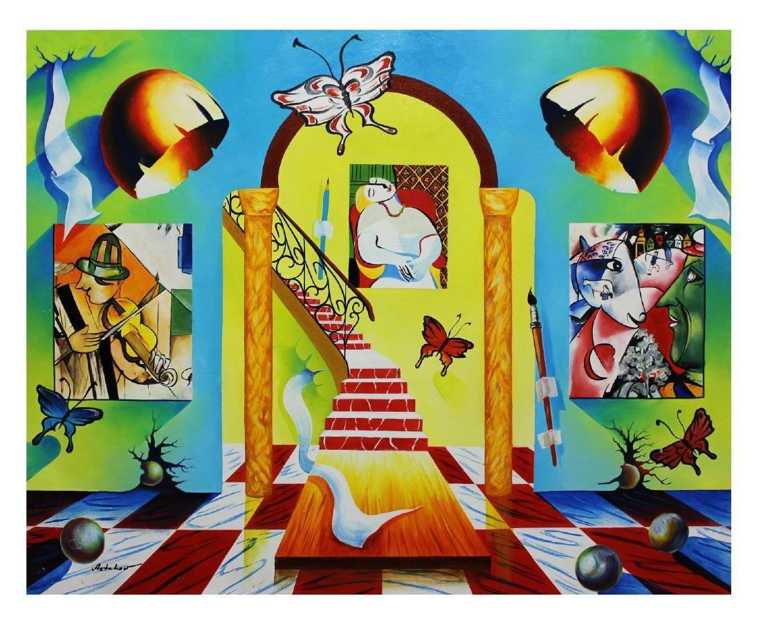 """Alexander Astahov- Original Oil on Canvas """"Stairway to"""