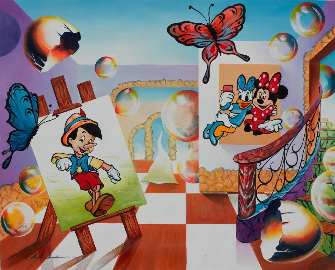 "Alexander Astahov- Original Oil on Canvas ""Selfie Time"""