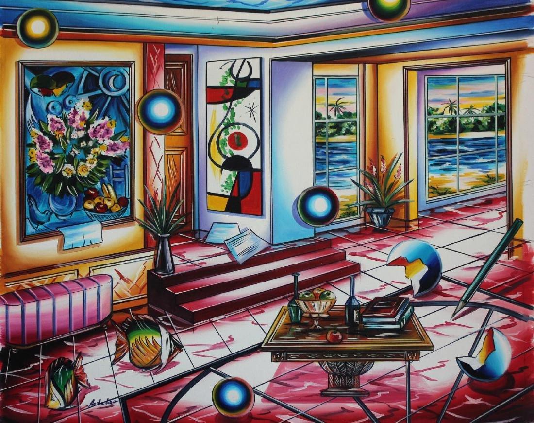 "Alexander Astahov- Original Oil on Canvas ""Dreaming"""