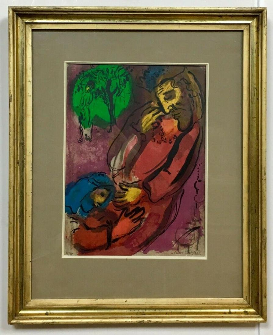 "MARC CHAGALL ""DAVID & ABSALOM"" ORIGINAL LITHOGRAPH ON"