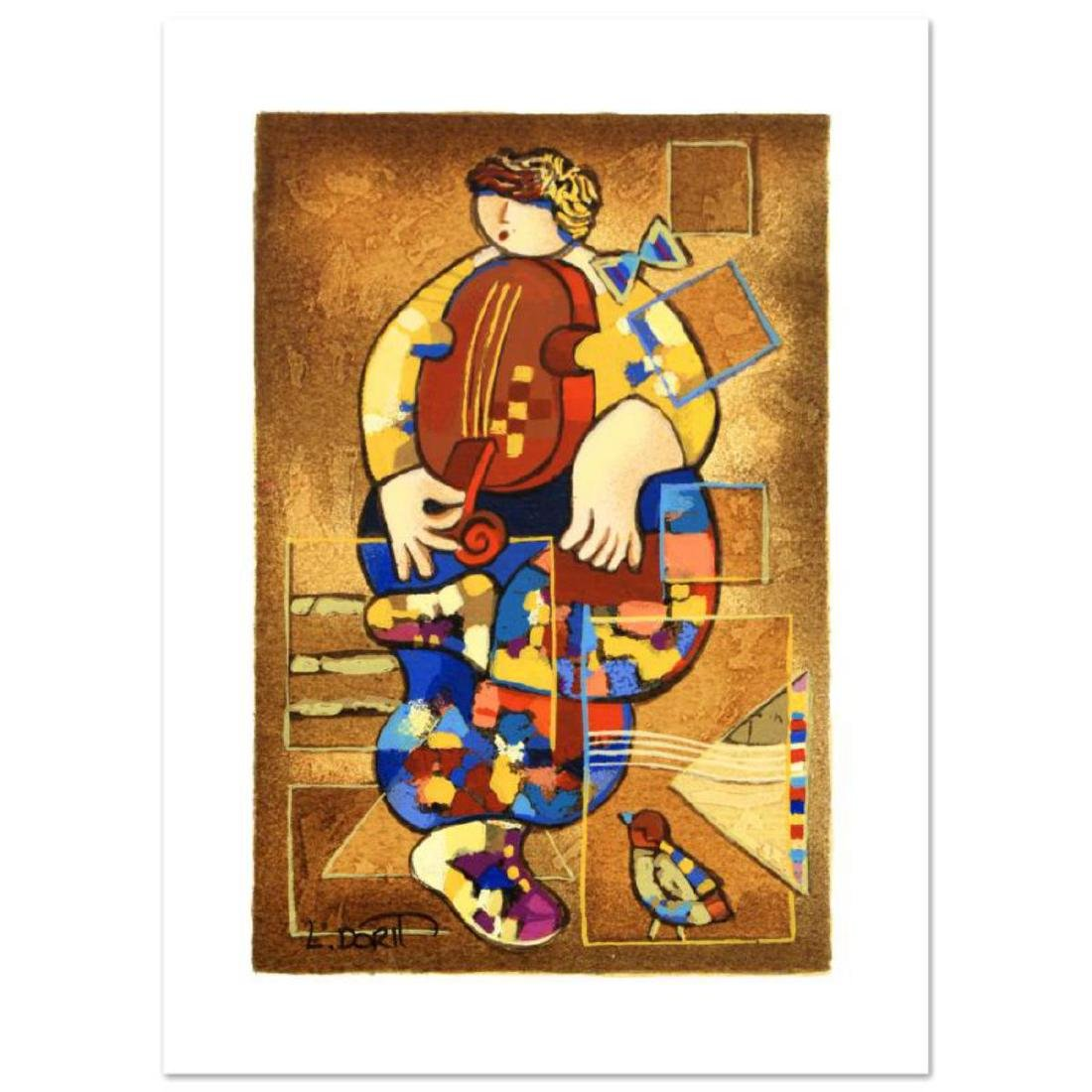 "Dorit Levi - ""Merry Violin"" Limited Edition Serigraph,"