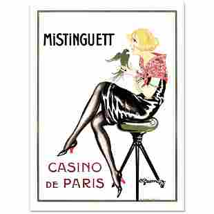 MistinguettParrot Hand Pulled Lithograph by the RE
