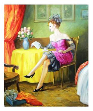 Taras Sidan Original Oil on Canvas Love Letter