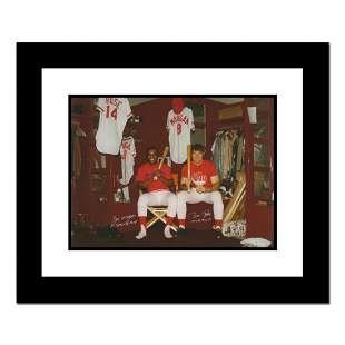Pete Rose Morgan in Clubhouse Framed Archival