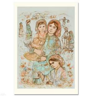 Family in the Field Limited Edition Lithograph by