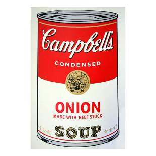 Andy Warhol Soup Can 1147 Onion wBeef Stock Silk