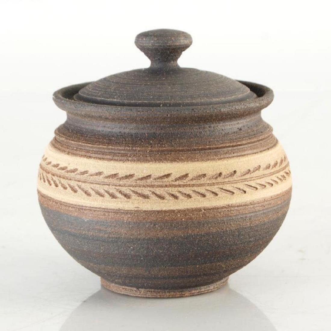 Eugenijus Tamosiunas - Hand Made Ceramic Jar with Lid.