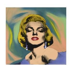 """Steve Kaufman (1960-2010), """"Marilyn With Earring"""" Hand"""