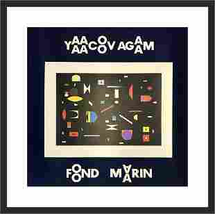 Yaacov Agam Original Lithograph on Paper Custom Framed