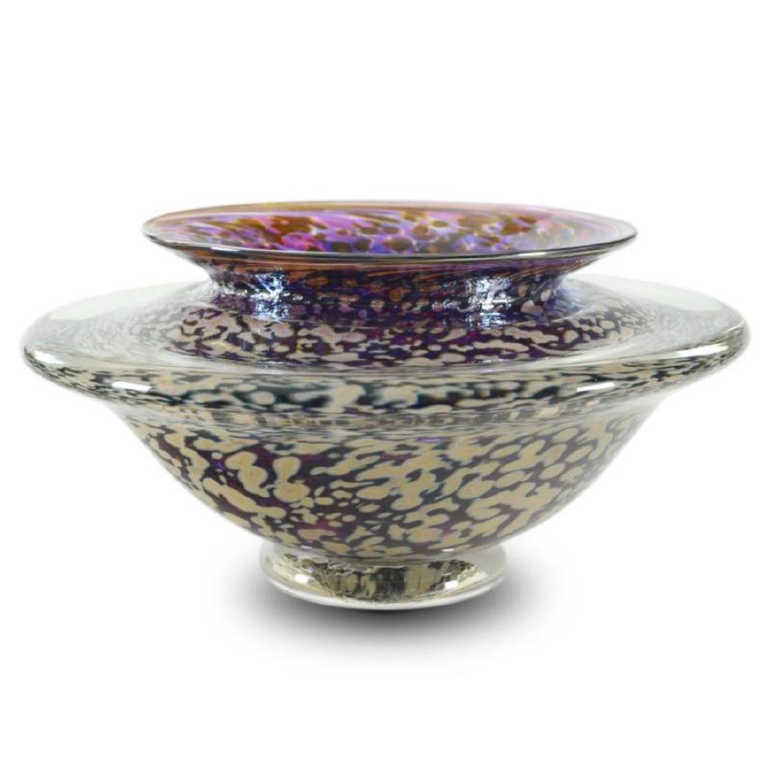 """""""Medium Ikebana Flower Bowl"""" Hand Blown Glass"""
