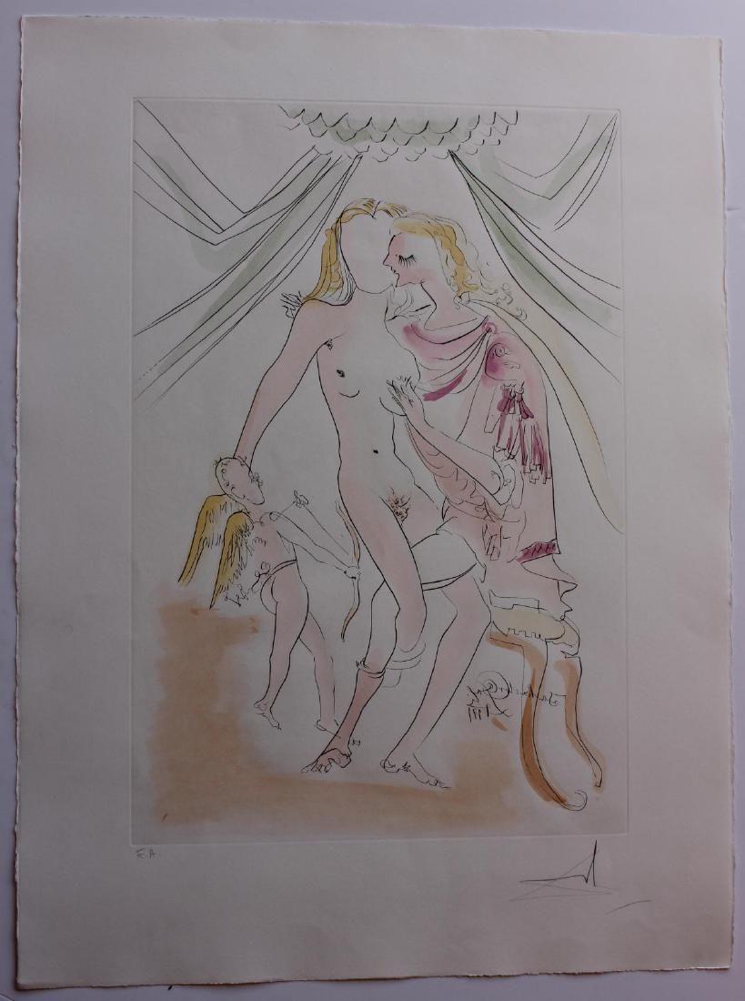 "Salvador Dali- Original Engravings with Color ""Venus,"