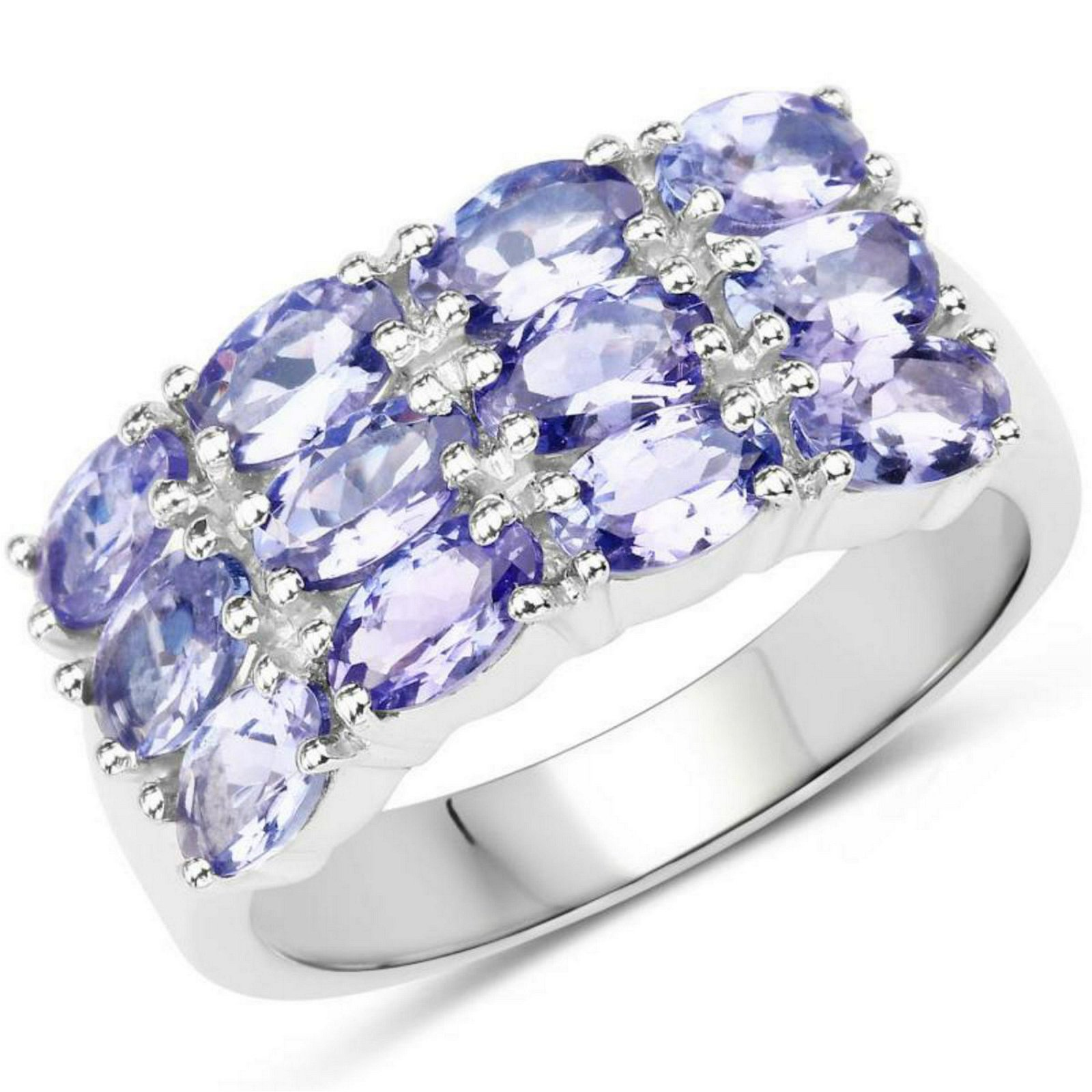 3 00 Carat Genuine Tanzanite  925 Sterling Silver Ring