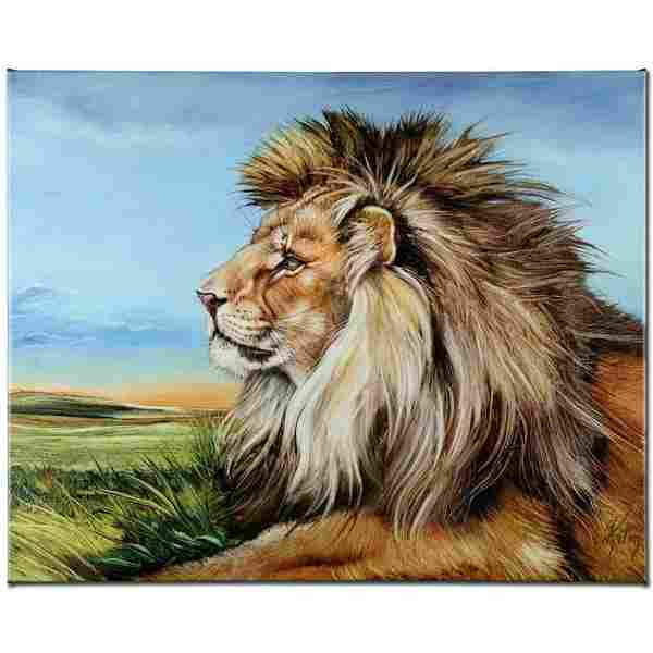 """""""Guardian Lion"""" Limited Edition Giclee on Canvas by"""