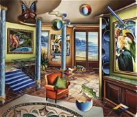 Alexander Astahov Original Giclee on Canvas Homage to