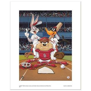 At the Plate Cardinals Numbered Limited Edition