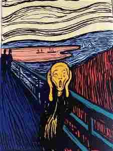 "Andy Warhol- Silk Screen ""Munch's 'The Scream' -"