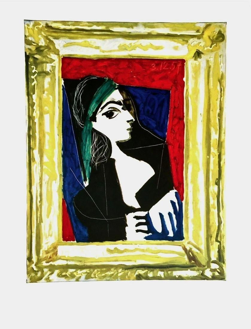 """Pablo Picasso (1881-1973)- Offset Lithograph """"Portrait"""