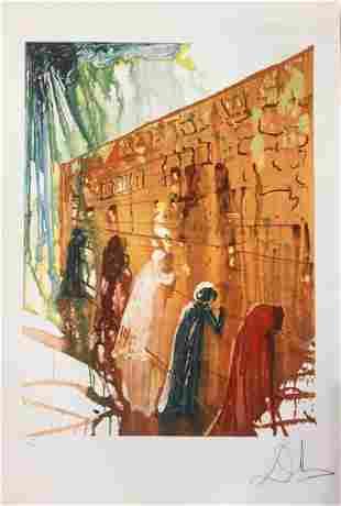 Salvador Dali Wailing Wall Lithograph