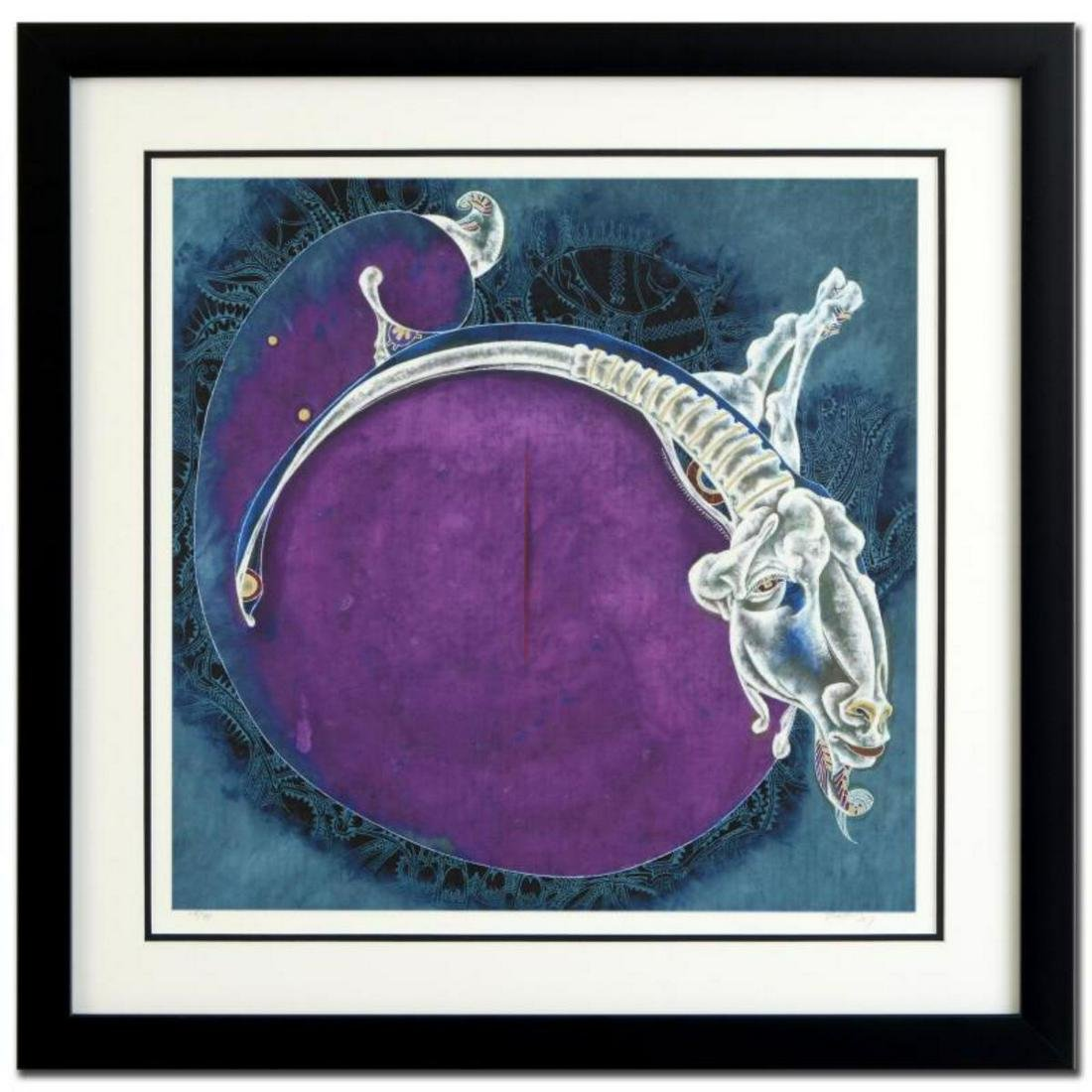 """Lu Hong, """"Aries"""" Framed Limited Edition Giclee,"""