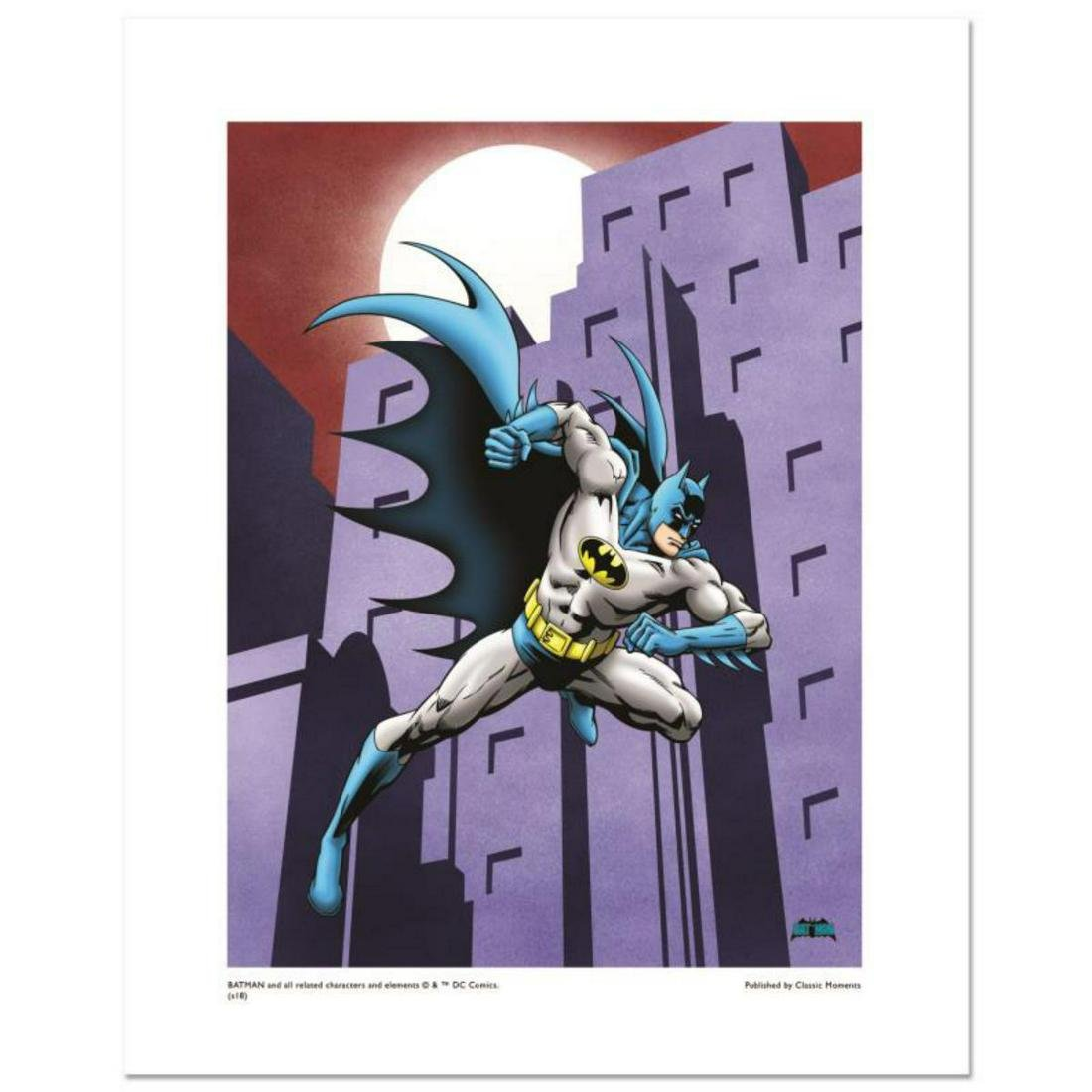 """""""Batman Running"""" Numbered Limited Edition Giclee from"""