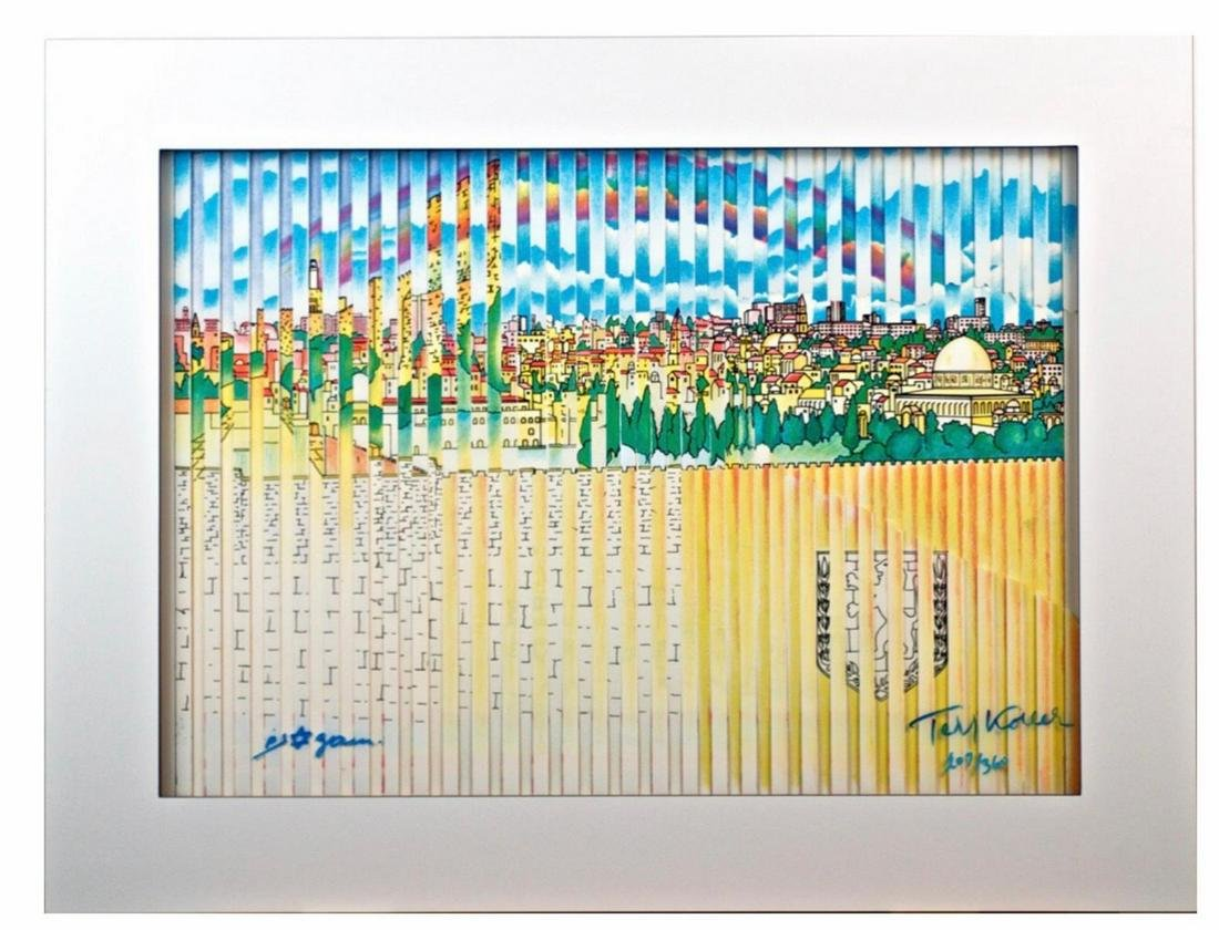 """Yaacov Agam """"JERUSALEM 3000"""" Signed and Numbered"""