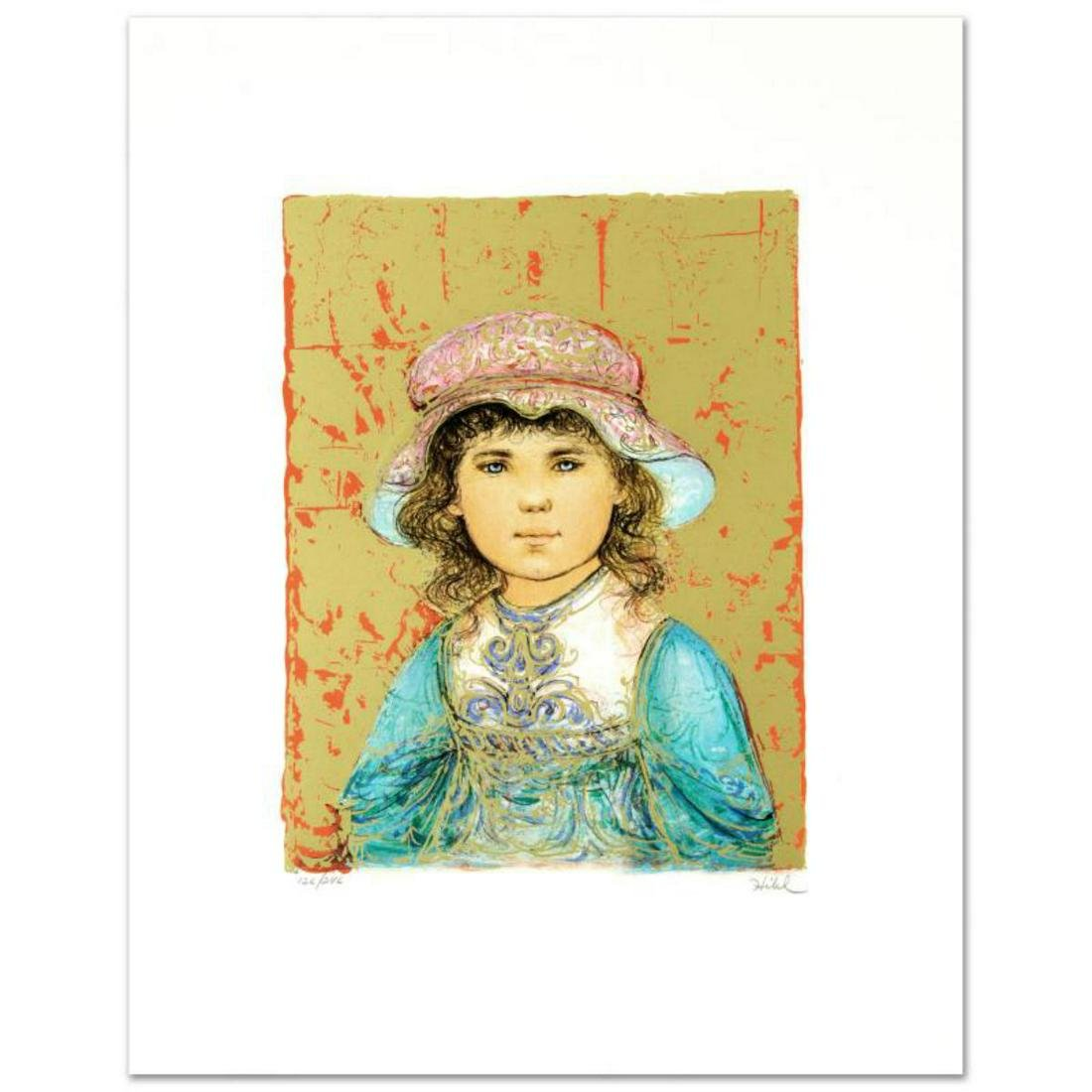 """""""Deidre"""" Limited Edition Lithograph by Edna Hibel"""