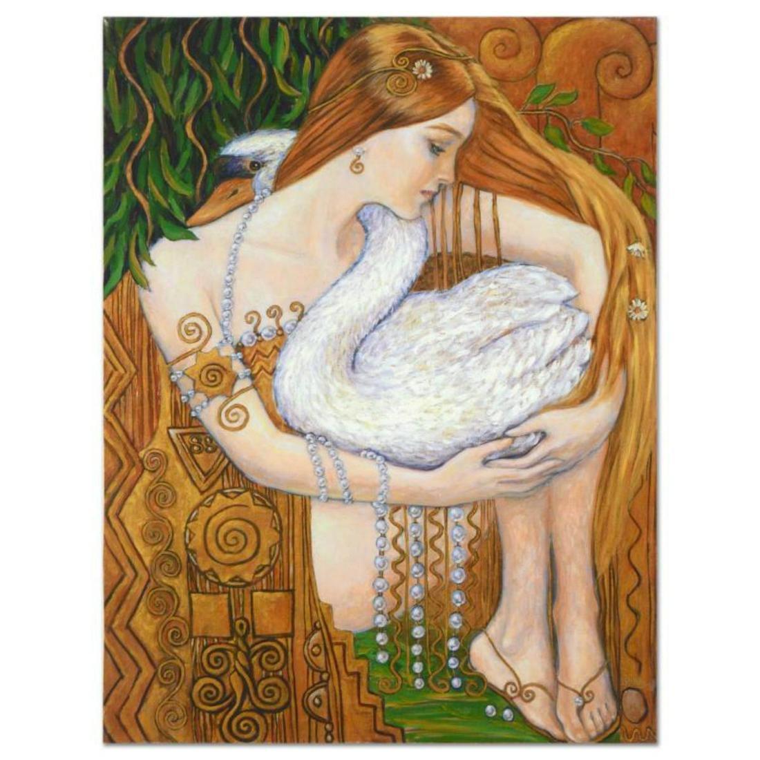 "Irina Karkabi, ""Swann"" Hand Embellished Limited Edition"