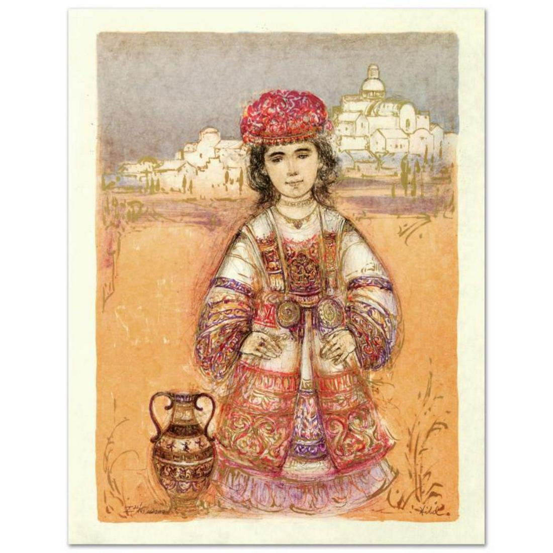 """Aegea"" Limited Edition Lithograph by Edna Hibel"