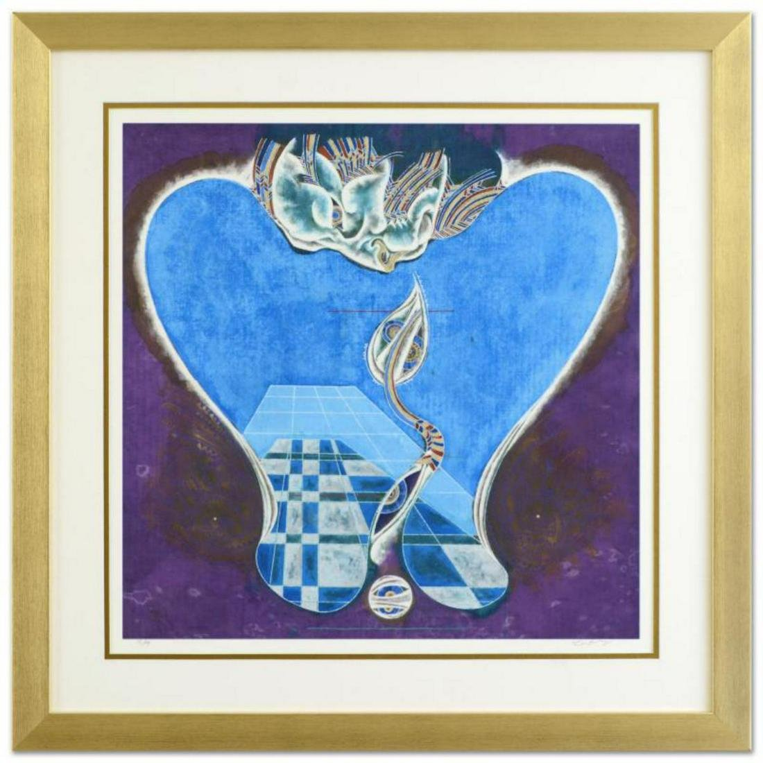 """Lu Hong, """"Leo"""" Framed Limited Edition Giclee Numbered"""