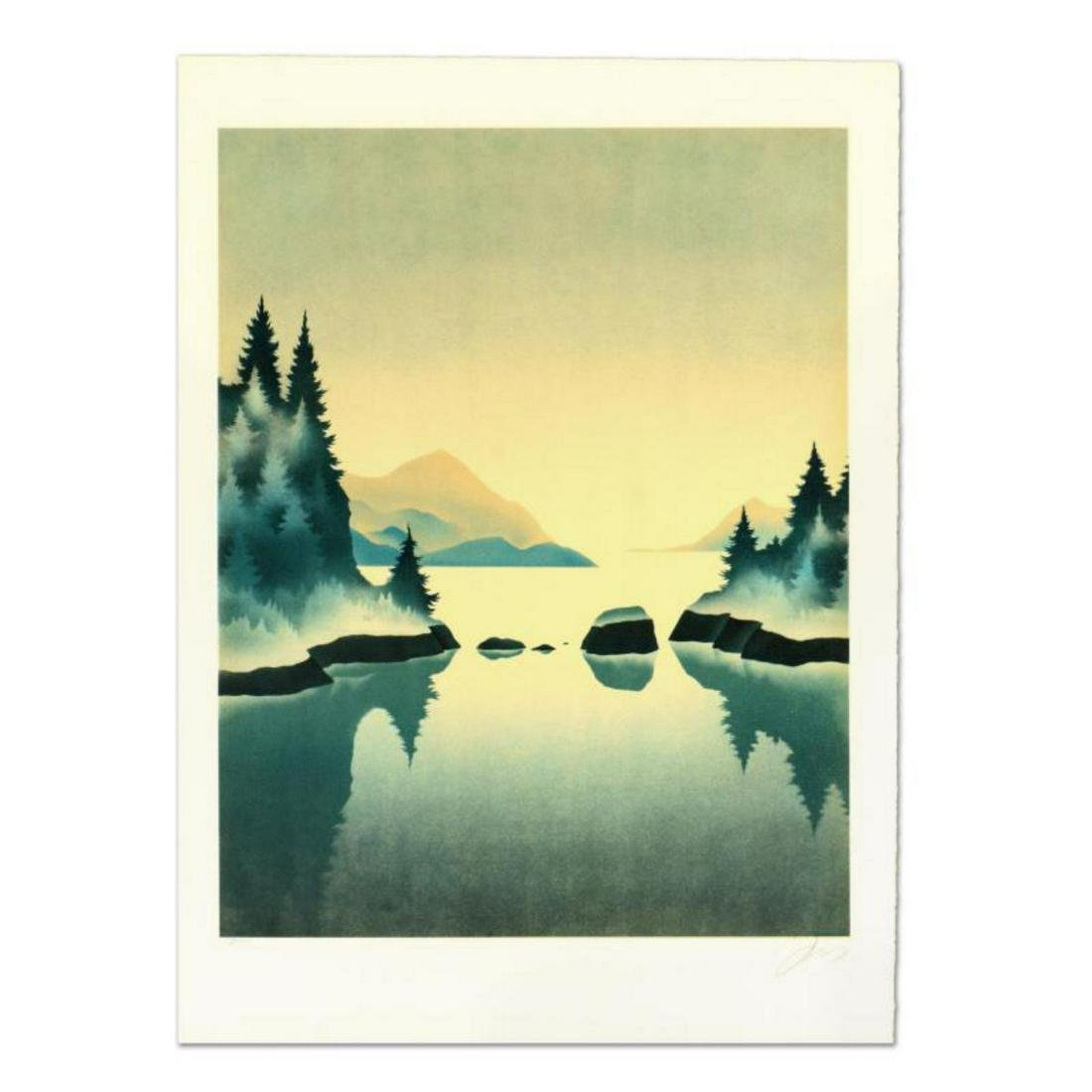 """Rand, """"Pine Trees"""" Limited Edition Lithograph, Numbered"""