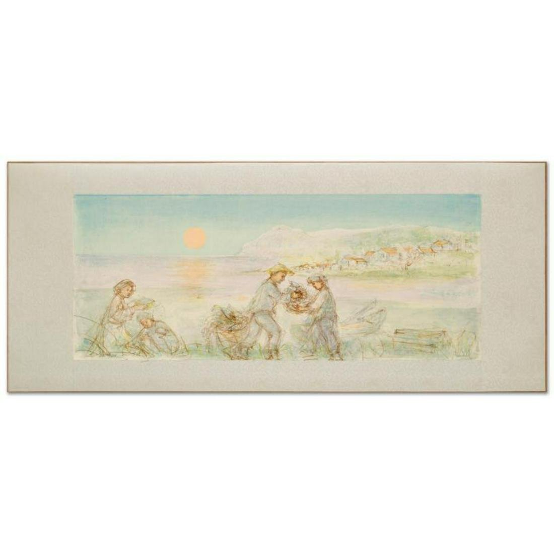 """Sunset"" Limited Edition Lithograph by Edna Hibel"
