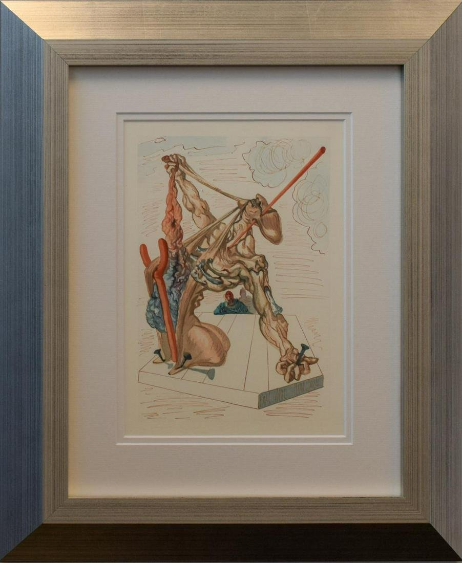 Salvador Dali- Original Color Woodcut on B.F.K. Rives