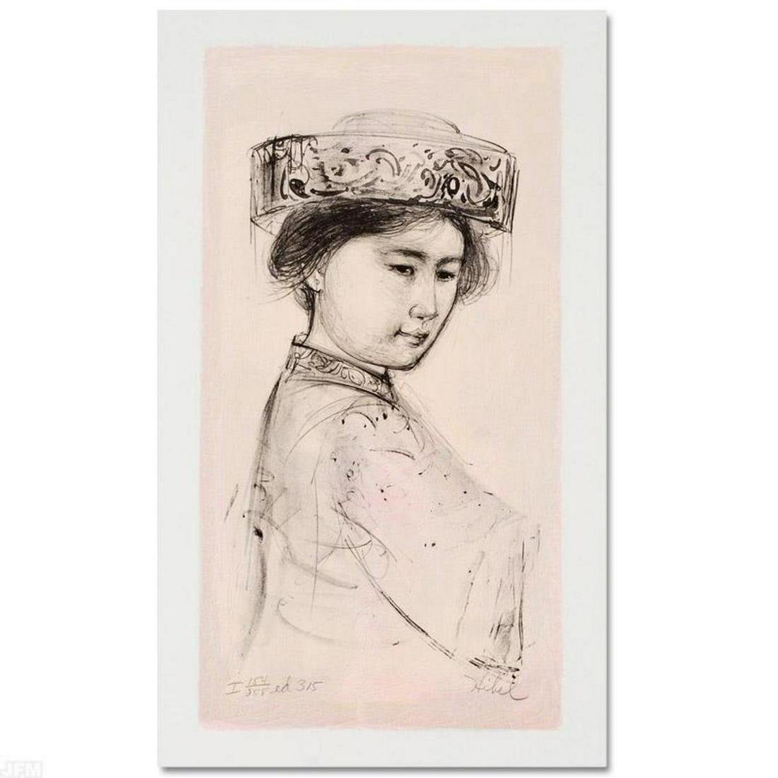 """Yasmin"" Limited Edition Lithograph by Edna Hibel"