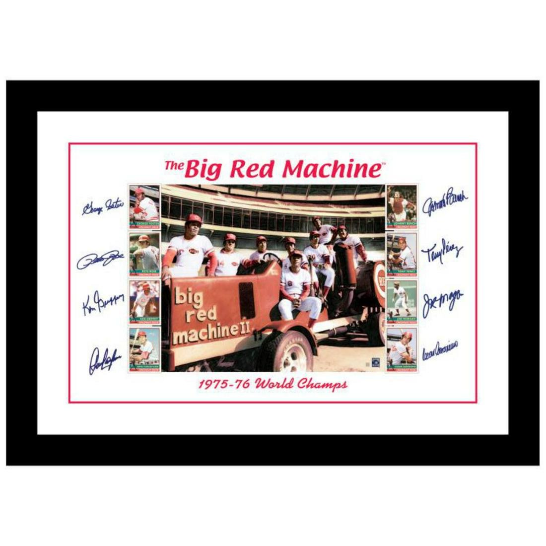 """""""Big Red Machine Tractor"""" Framed Lithograph Signed by"""