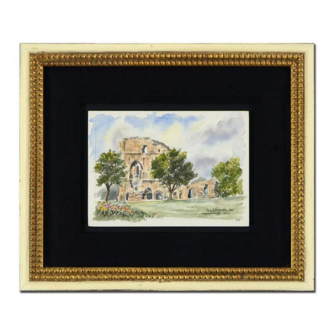 """Martin Goode (1932-2002), """"Knaresborough Castle"""" Framed"""