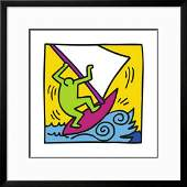 Keith Haring Pop Shop Custom Framed